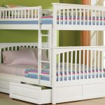 Full Size Bunk Bed White