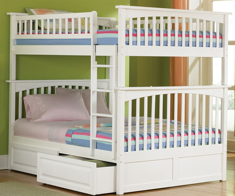 Image of: Full Size Bunk Bed White