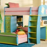 Girls Kids Bunk Beds with Desk
