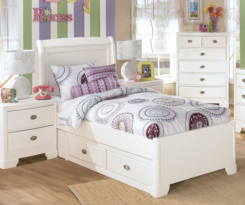 Image of: Good Twin Bed With Drawers Underneath