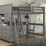 Grey Lofted Full Bed