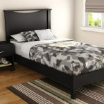 Headboards for Twin Beds in Pure Black