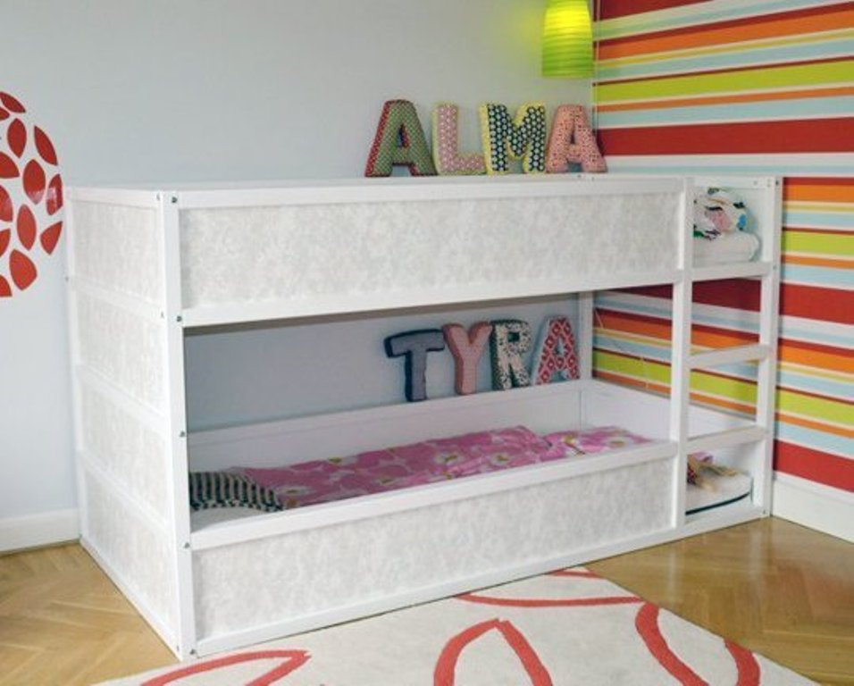 Image of: Ikea Kura Loft Bed Canopy