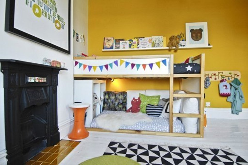 Image of: Ikea Kura Loft Bed for Childrens