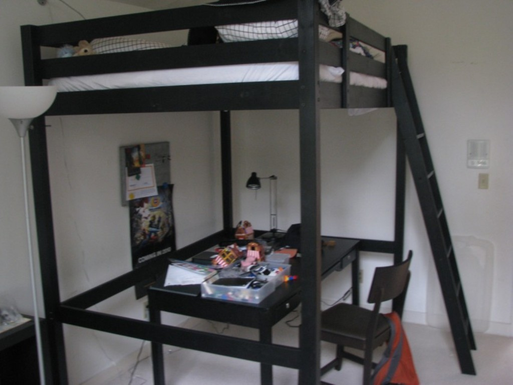 Image of: Ikea Stora Loft Bed Modern