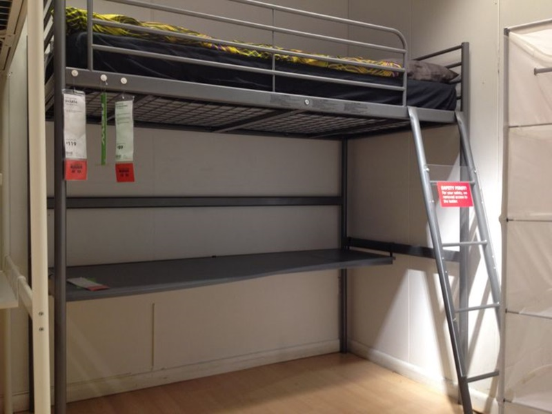 Image of: Ikea Svarta Loft Bed Designs