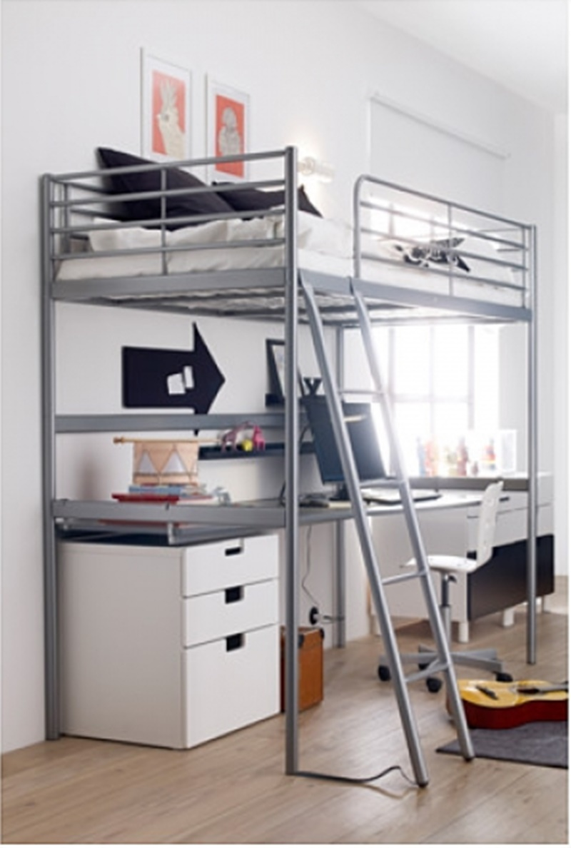 Image of: Ikea Svarta Loft Bed Image