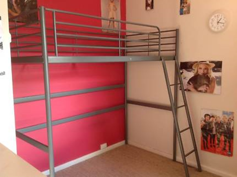 Image of: Ikea Svarta Loft Bed Photos