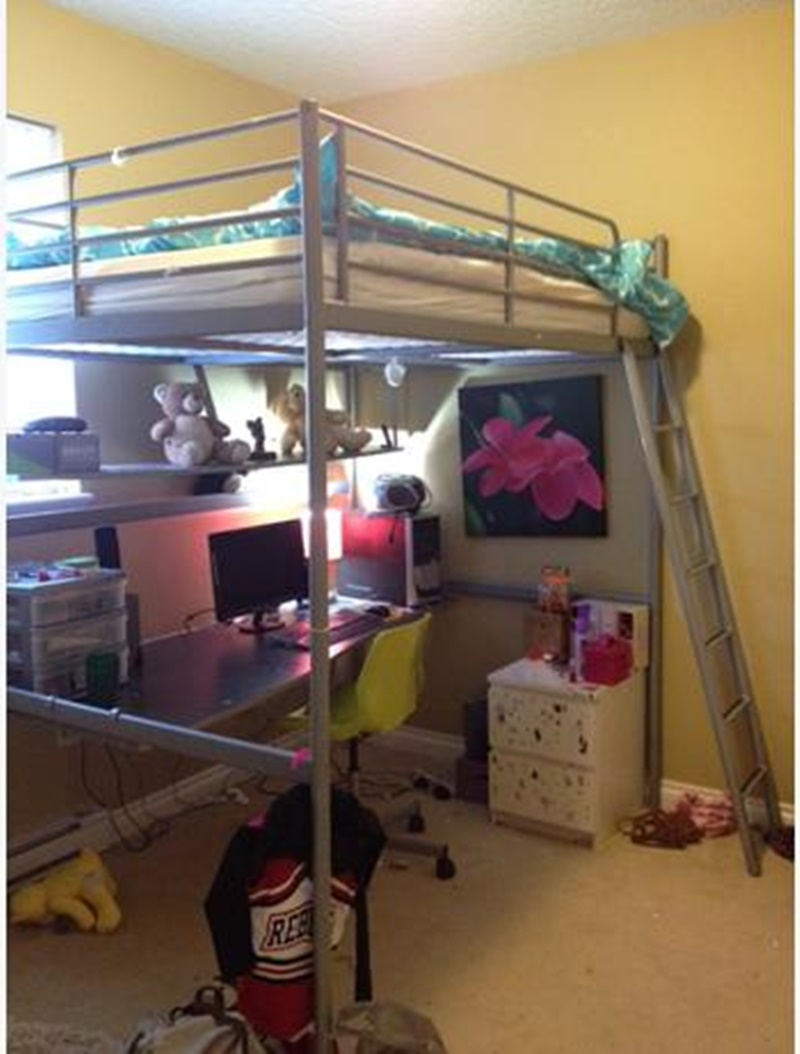 Ikea Svarta Loft Bed With Desk