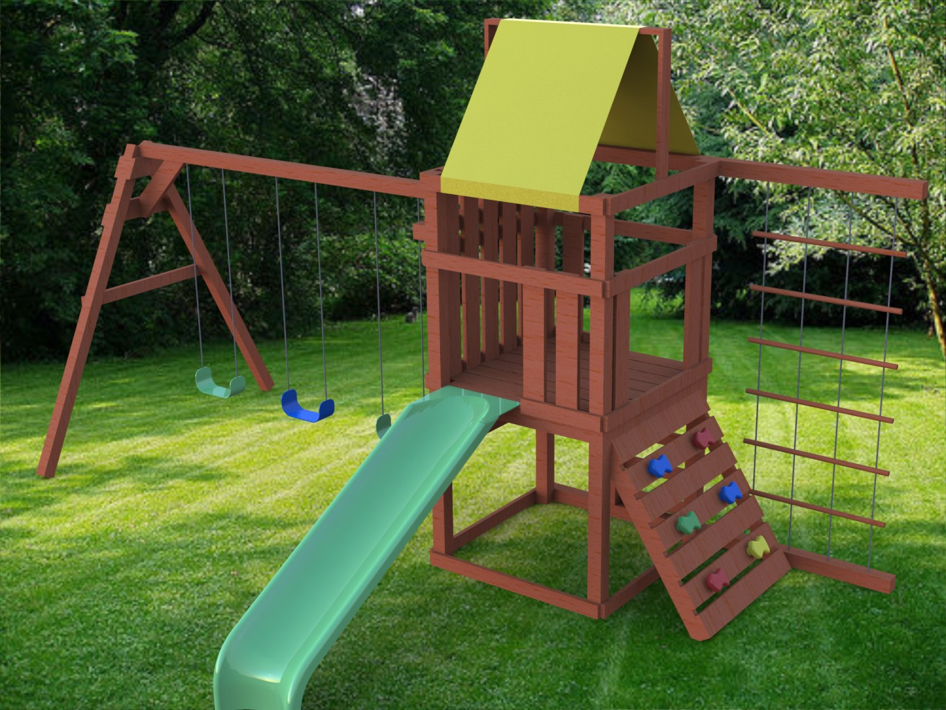 Image of: Image of Outdoor Playsets