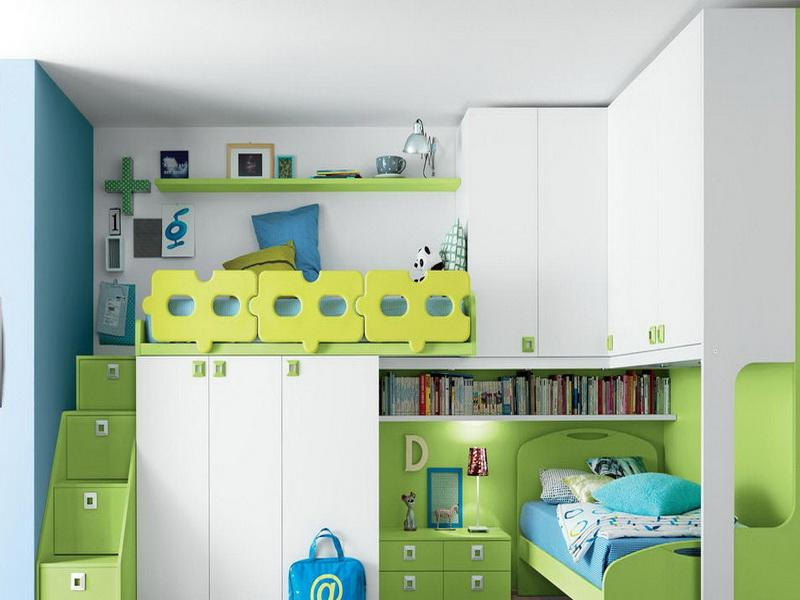Image of: Kid Bunk Beds Decor and Paint