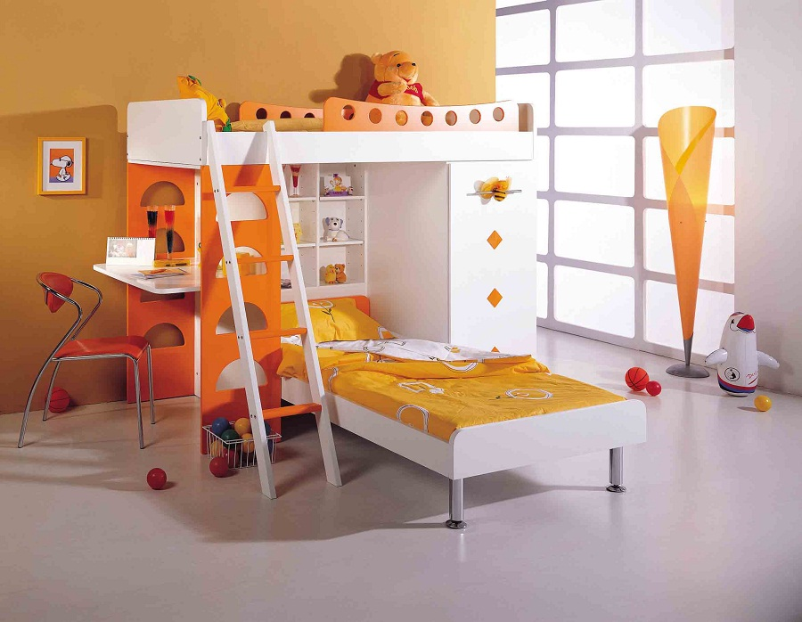 Image of: Kid Bunk Beds L Shapes