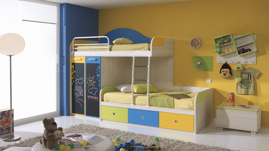 Image of: Kid Bunk Beds Paint
