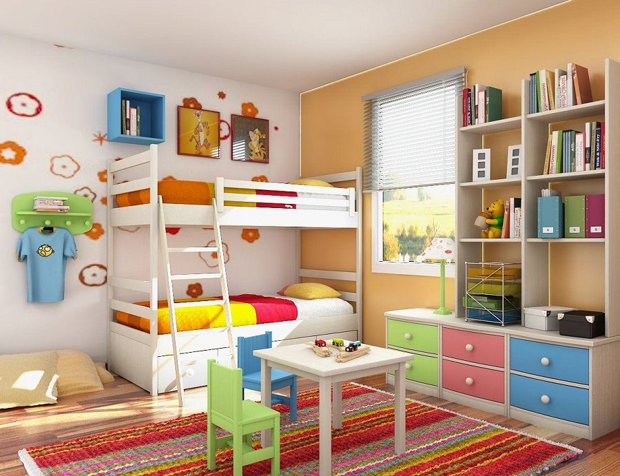 Image of: Kid Bunk Beds Storage