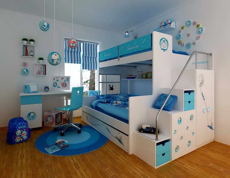 Image of: Kid Bunk Beds with Desk