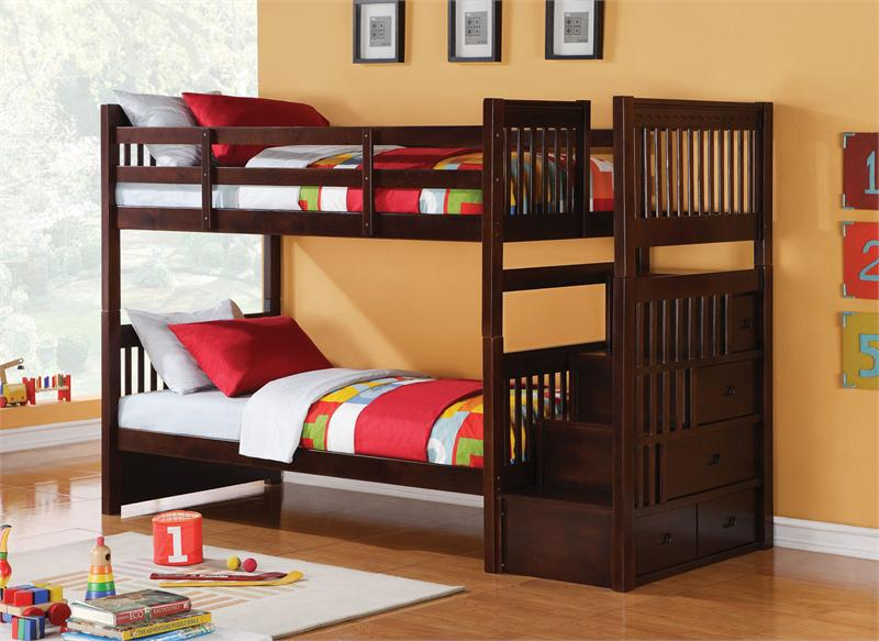 Image of: Kids Bunk Bed Stairs