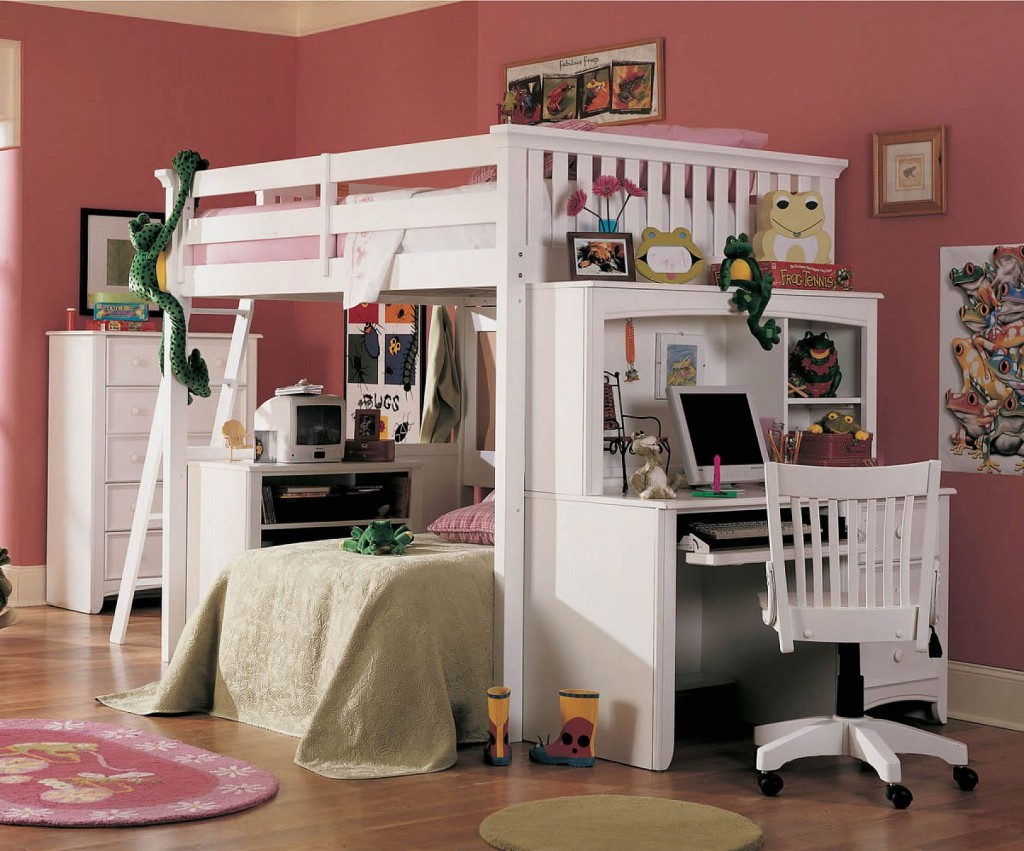 Kids Bunk Beds with Desk Study