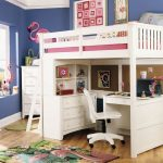 Kids Bunk Beds with Desk White