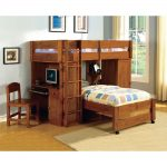 Kids Bunk Beds with Desk and Chairs