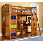 Kids Bunk Beds with Desk and Ladder