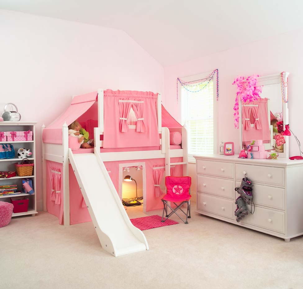 Image of: Loft Beds For Kids With Slide Ideas