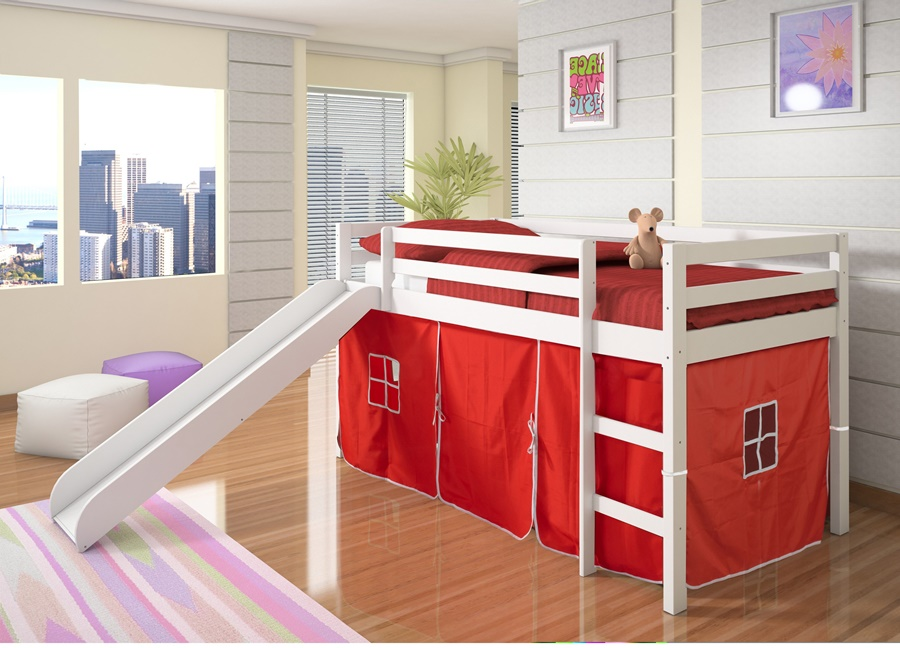 Image of: Loft Beds For Kids With Slide Style