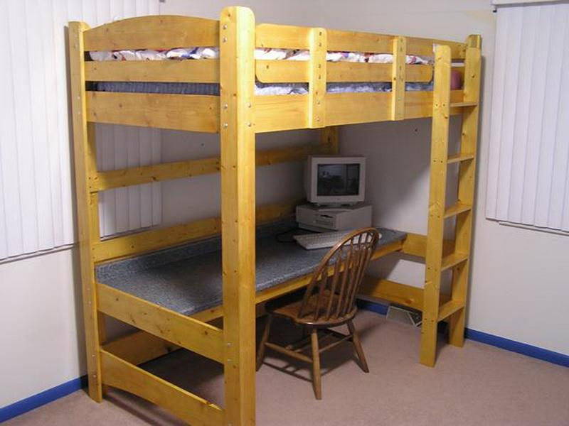 Image of: Lofted Full Bed Picture