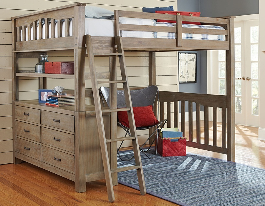 Image of: Lofted Full Bed