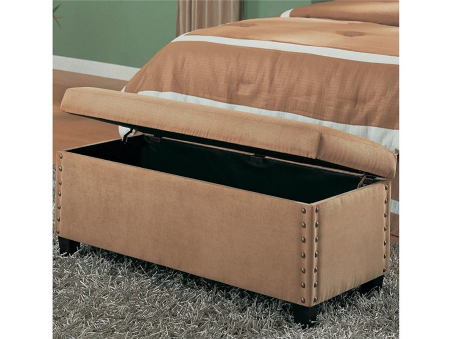 Image of: Luxury End Of Bed Storage Bench