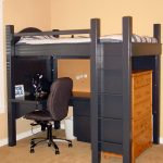 Minimalist Kids Bunk Beds with Desk