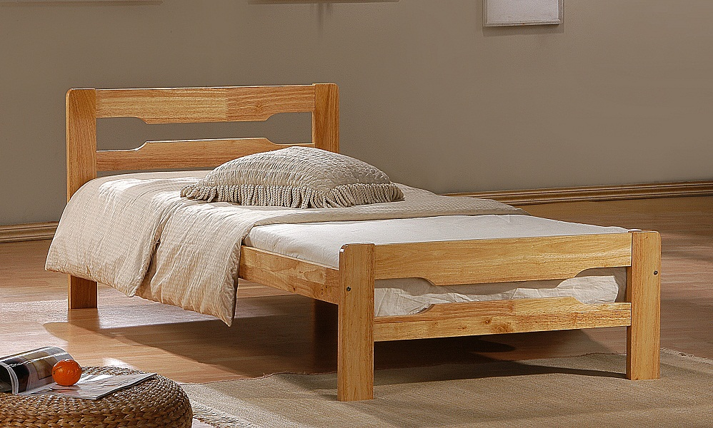 Image of: Minimalist Solid Wood Twin Bed