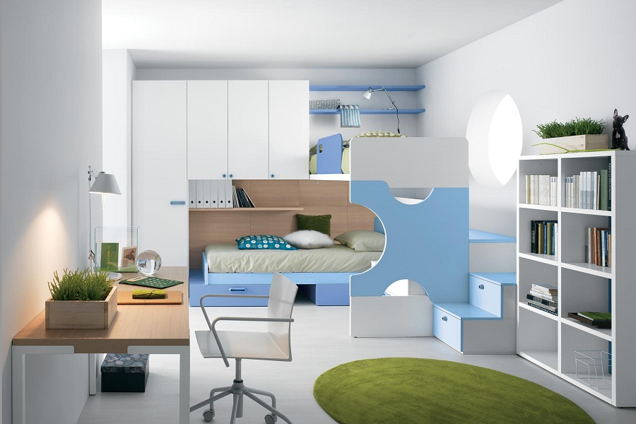 Image of: Modern Bunk Bed Color