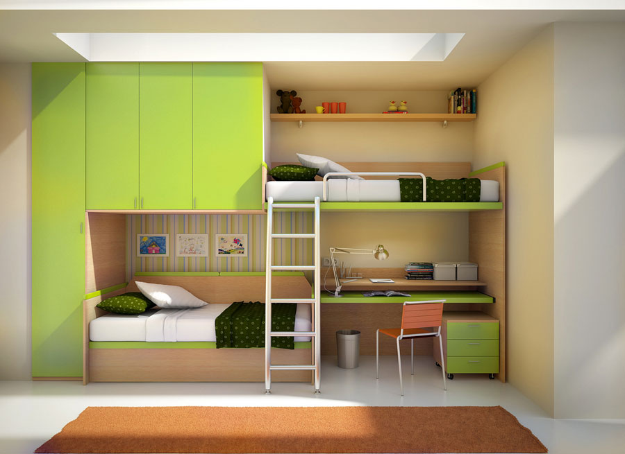 Image of: Modern Bunk Bed Paint