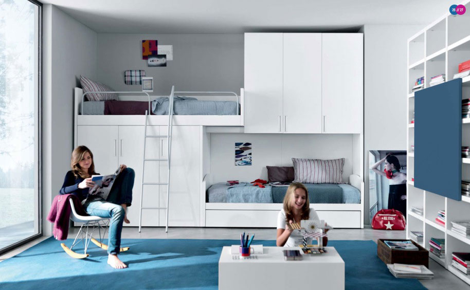 Image of: Modern Bunk Bed Teen