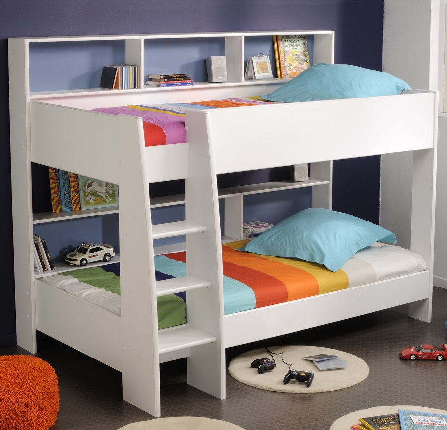 Image of: Modern Bunk Bed Twin