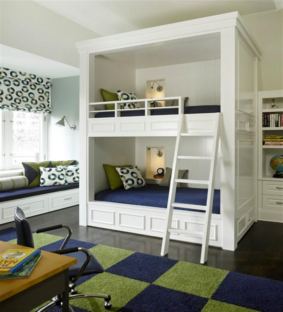 Modern Bunk Bed with Ladder