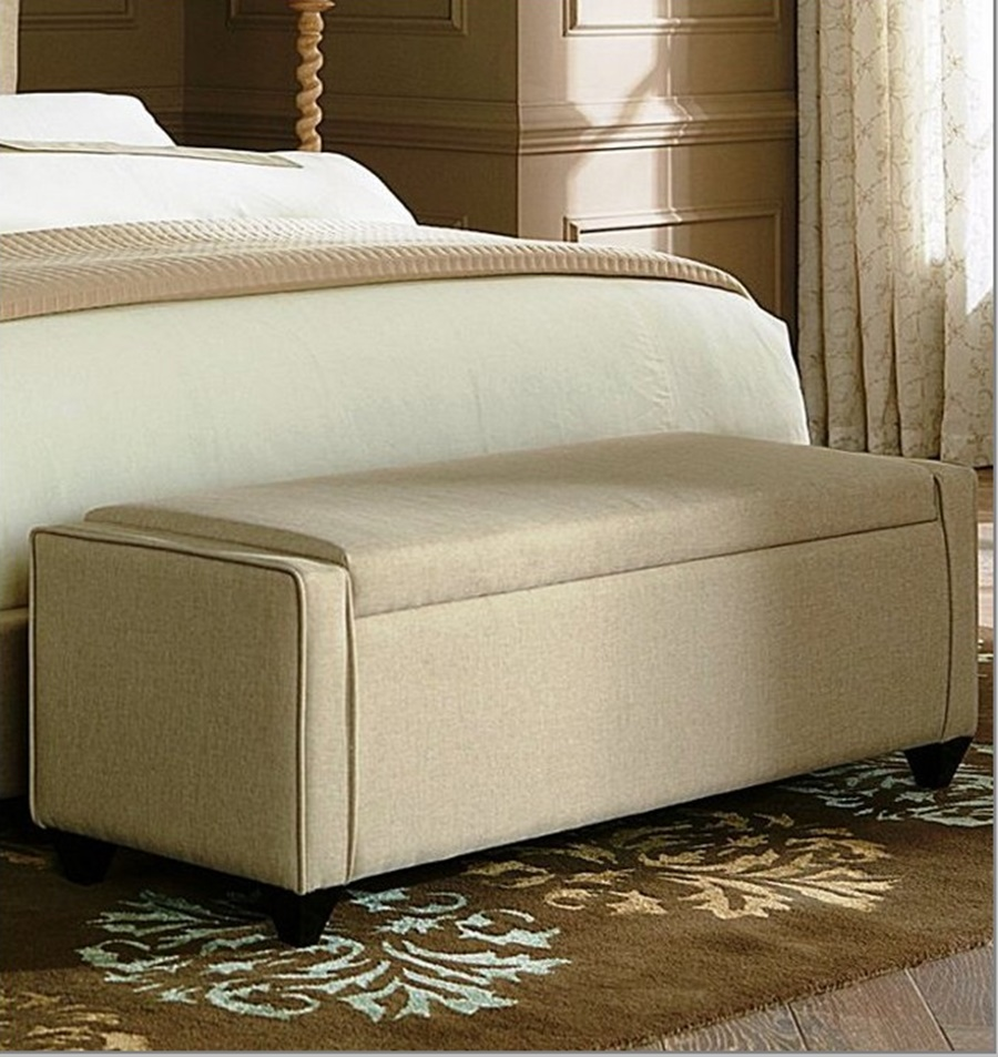 Modern End Of Bed Storage Bench