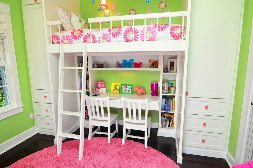 Image of: Modern Kids Bunk Beds with Desk