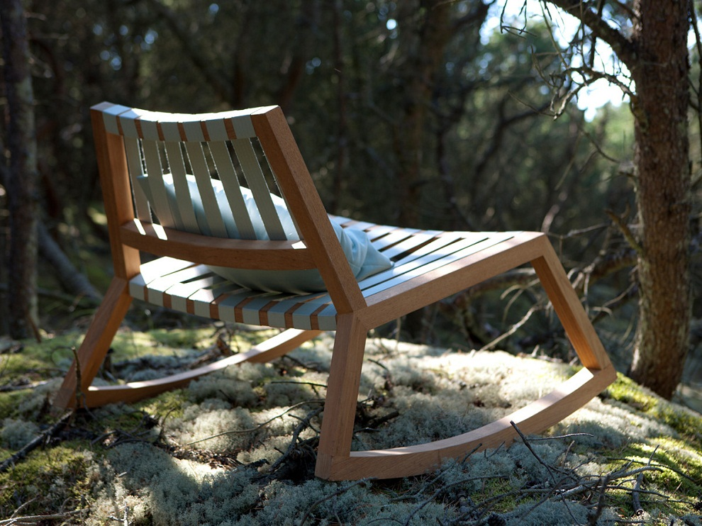 Image of: Modern Outdoor Rocking Chair