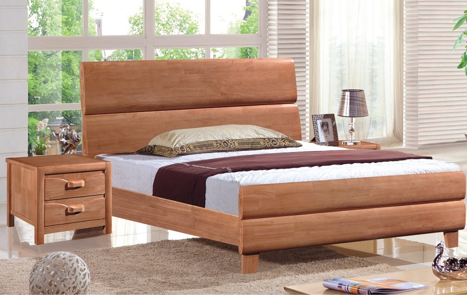 Image of: Modern Solid Wood Twin Bed