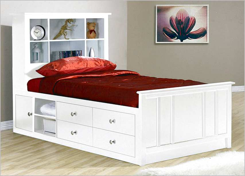 Image of: Modern Twin Bed Frames With Storage