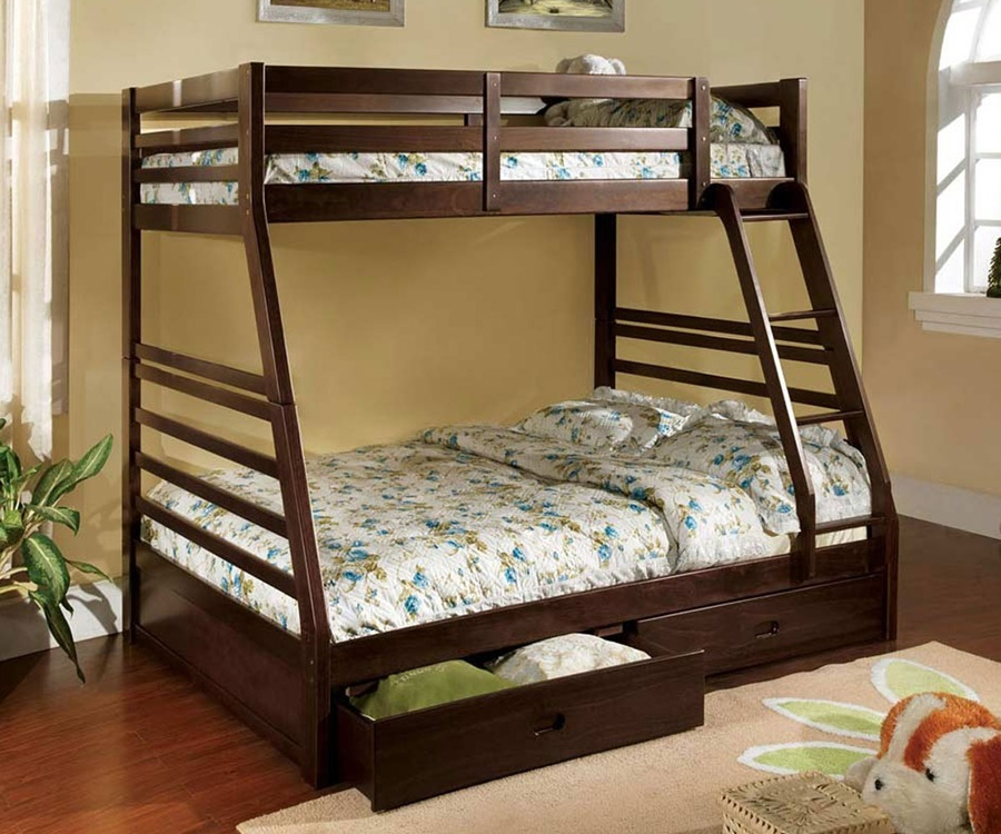 Image of: Modern Twin Full Bunk Beds With Stairs