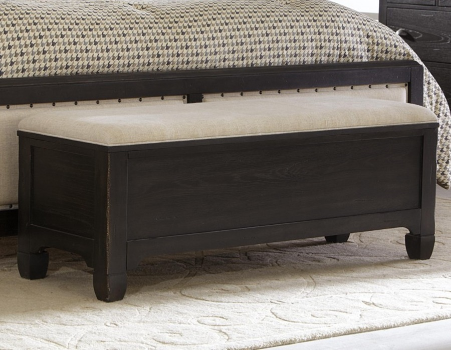 Image of: Oak End Of Bed Storage Bench