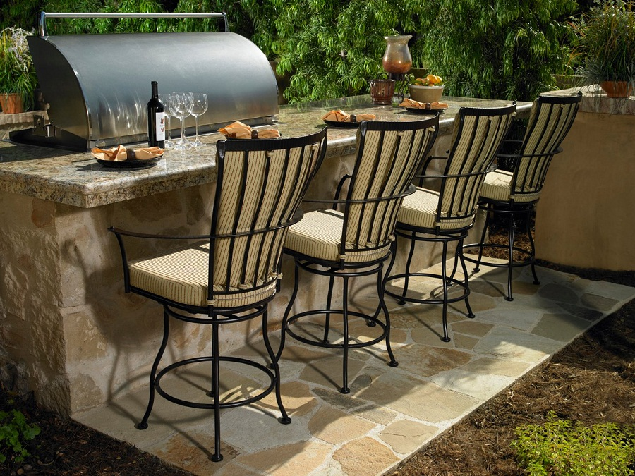 Image of: Outdoor Barstools Cushions