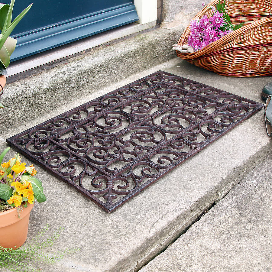 Image of: Outdoor Doormats Iron