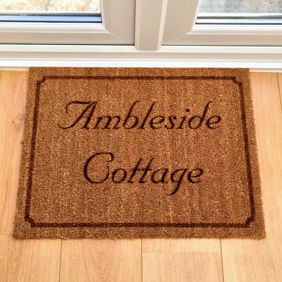 Image of: Outdoor Doormats Personalized