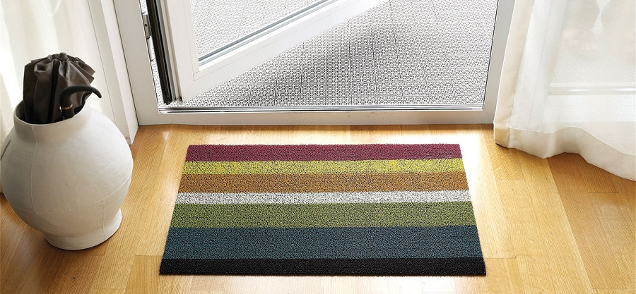 Image of: Outdoor Doormats Stripe