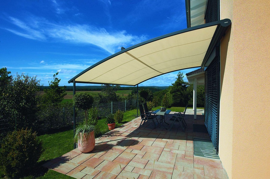 Image of: Patio Awnings Shapes