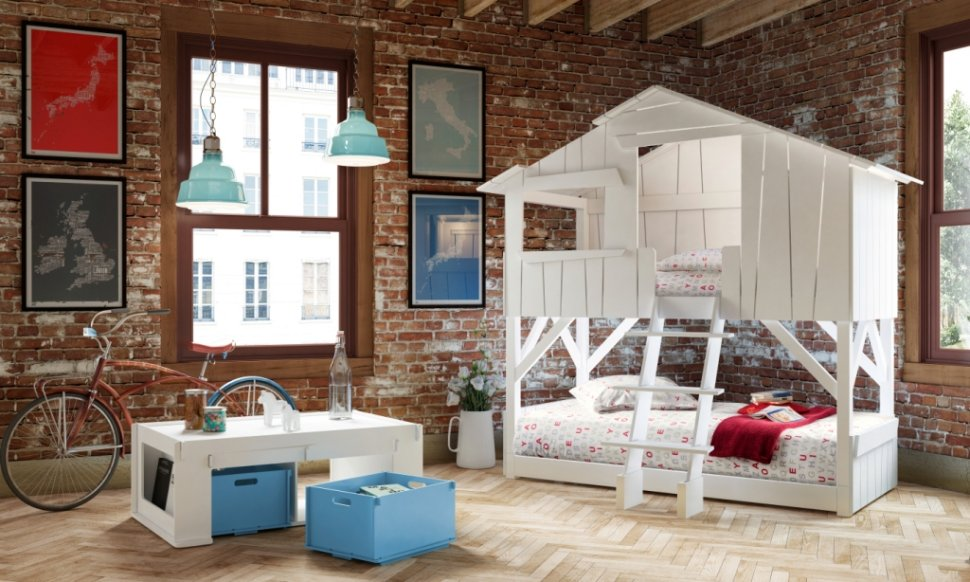 Image of: Playhouse Childrens Bunk Beds