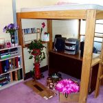 Queen Loft Bed with Desk and Stairs